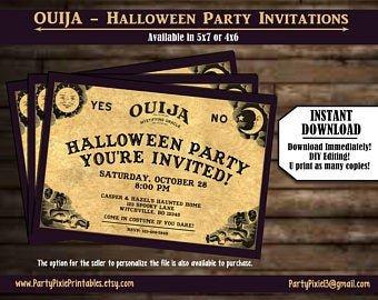 Ouija Board Invitation Template Ouija Invitation