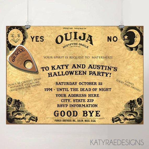 Ouija Board Invitation Template Printable Halloween Party Invitations