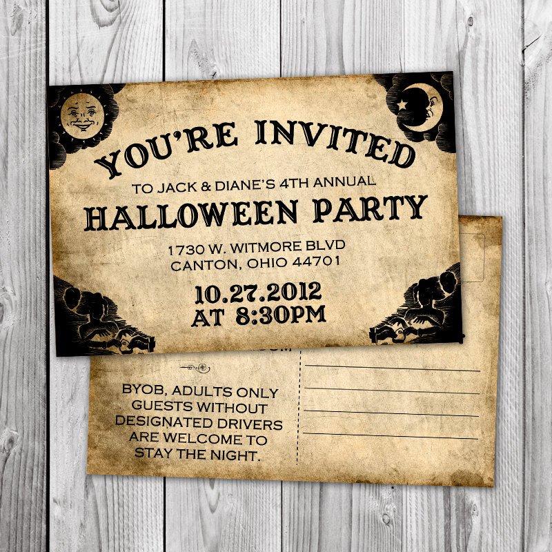 Ouija Board Invitation Template Vintage Ouija Board Halloween Invitation Postcard W Printable