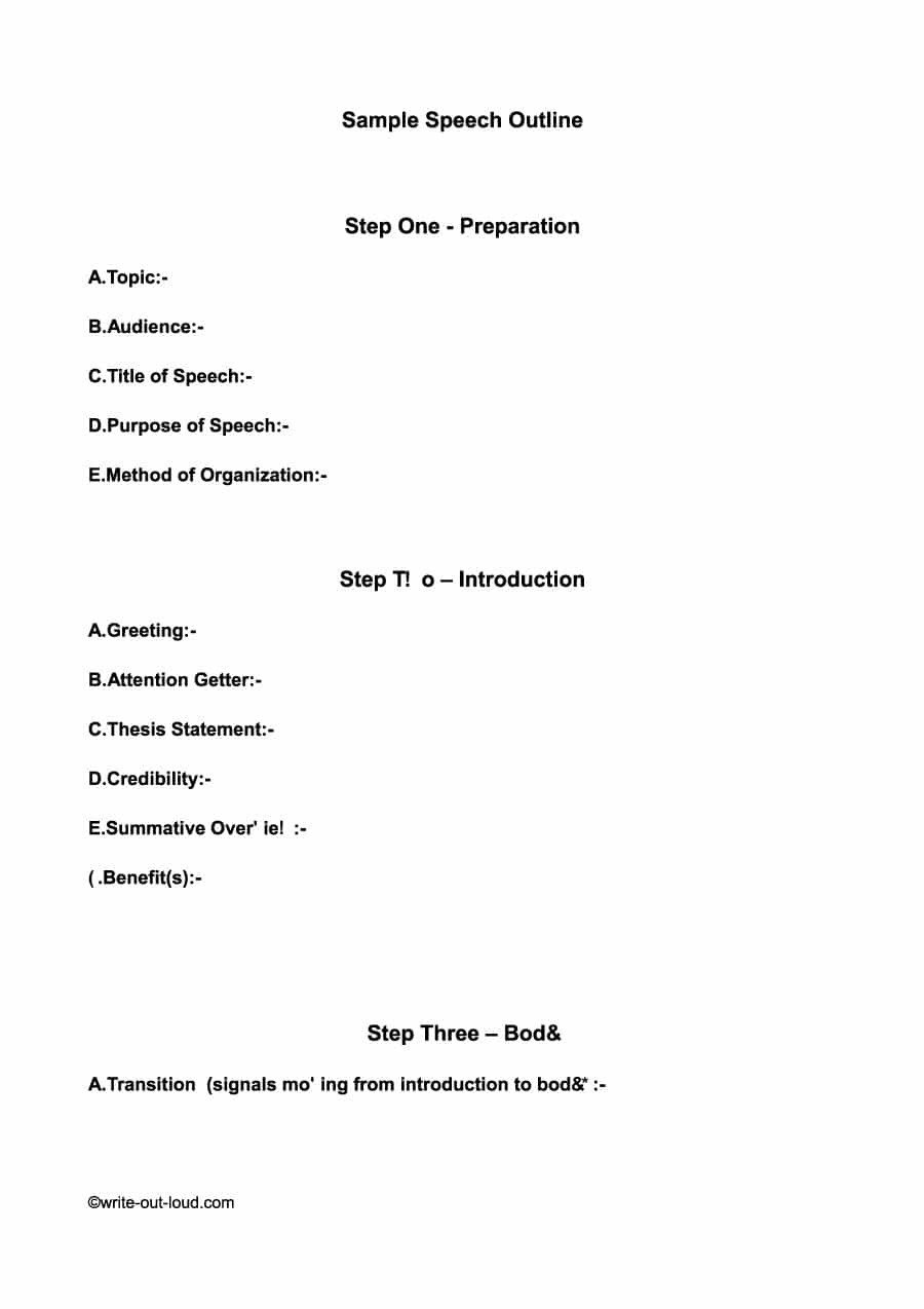 Outline for Informative Speech 43 Informative Speech Outline Templates & Examples