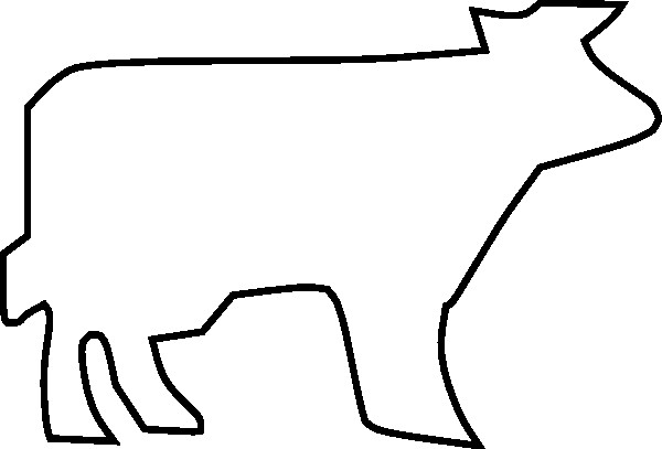 Outline Of A Cow Cow Outline Clip Art at Clker Vector Clip Art Online