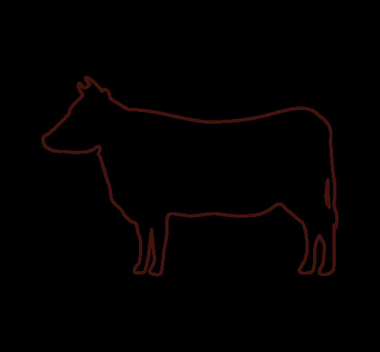 Outline Of A Cow Cow Outline Icon Icons by Canva