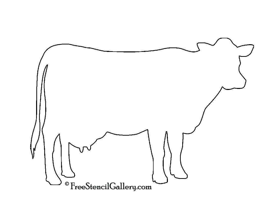 Outline Of A Cow Cow Silhouette Stencil Future Home