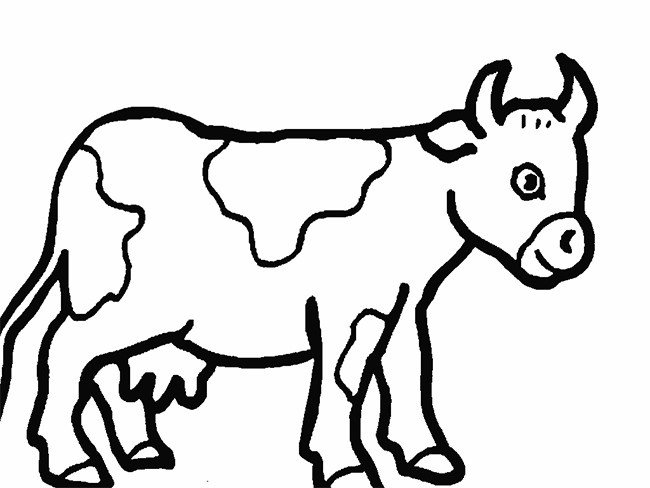 Outline Of A Cow Cow Template Animal Templates