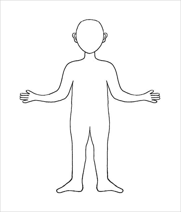 Outline Of A Human 23 Human Body Templates Doc Pdf Ppt