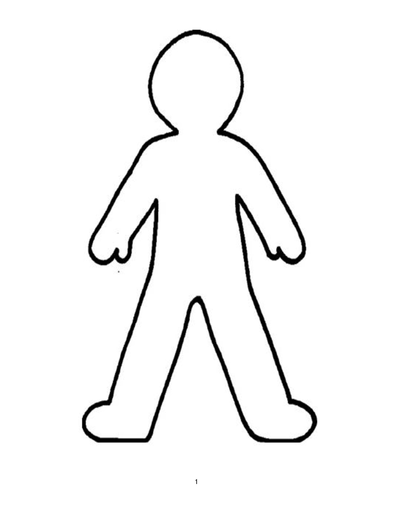Outline Of A Human Free Human Body Outline Printable Download Free Clip Art