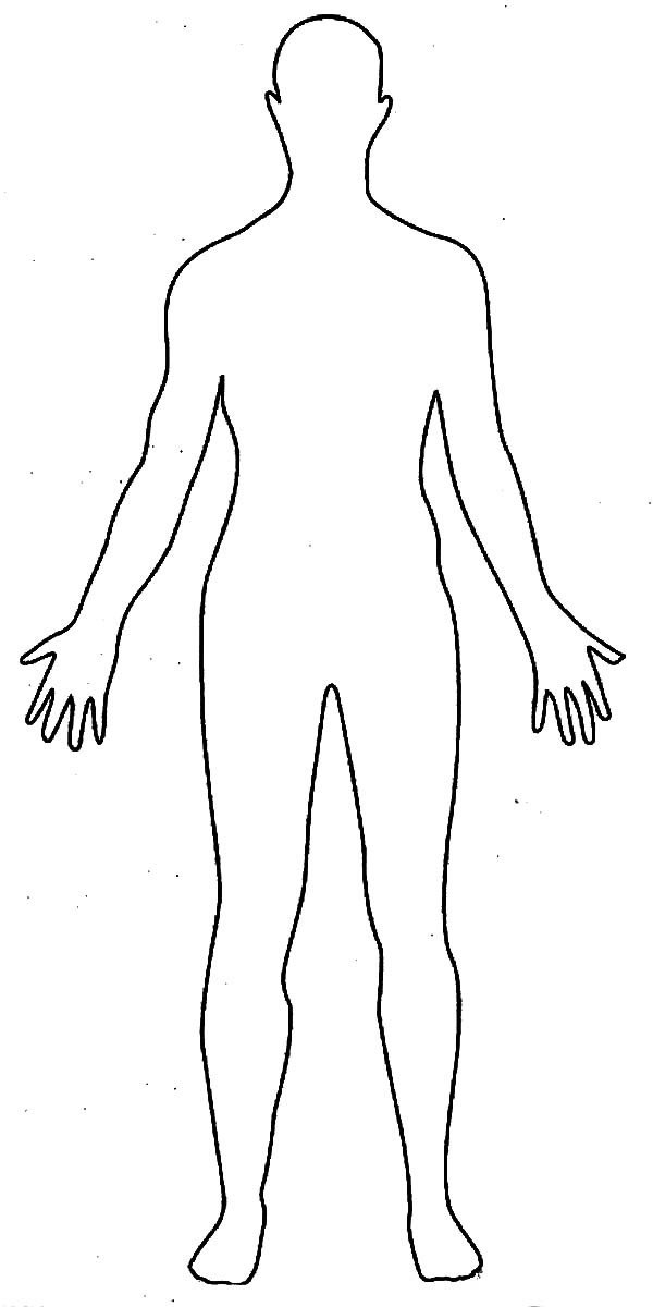 Outline Of A Human Human Body Outline Drawing Coloring Pages Element