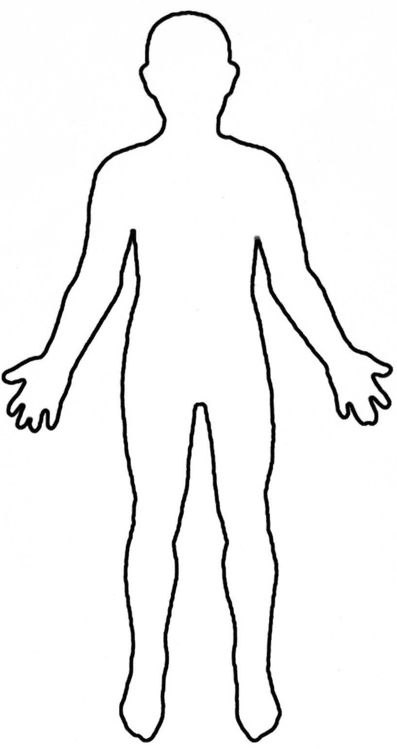 Outline Of A Human Human Body Outline Printable