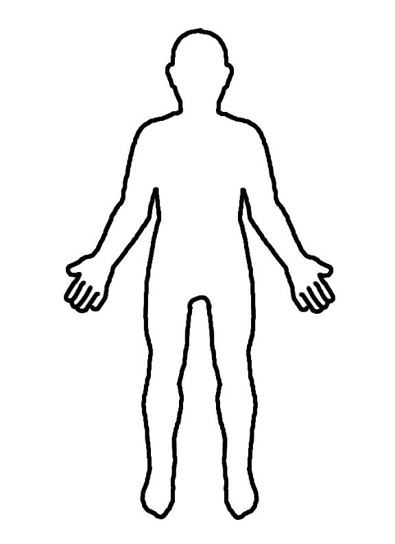 Outline Of A Human Human Clipart Body Outline Pencil and In Color Human