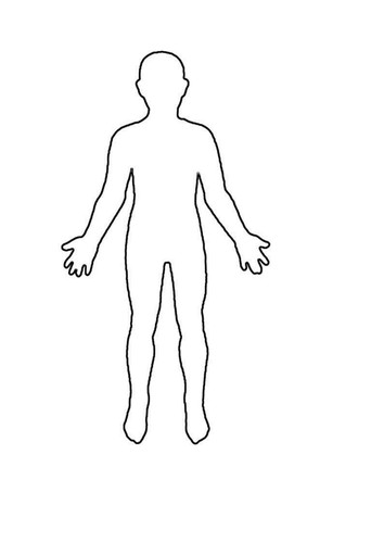 Outline Of A Human Human Outline Sheet by Winni1 Teaching Resources Tes