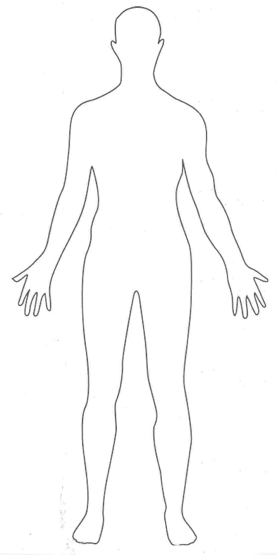 Outline Of A Human Outline Picture Parts Of the Human Body Great for
