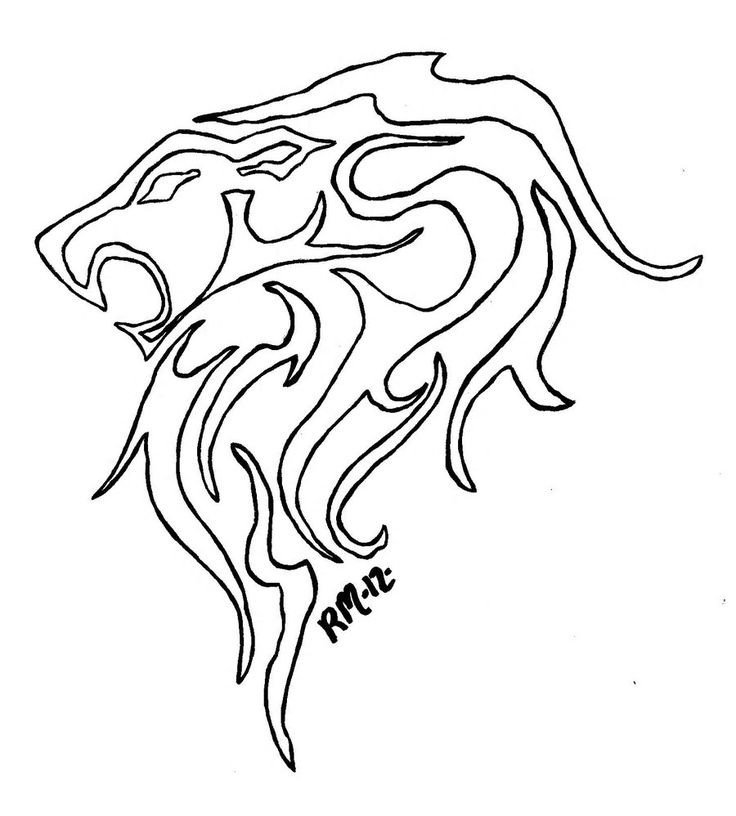 Outline Of A Lion 34 Best Lion Tattoo Outline Images On Pinterest