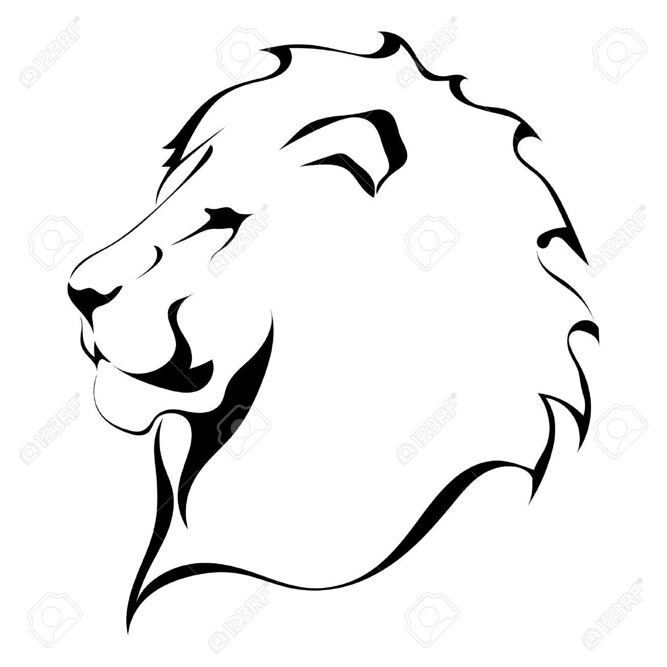 Outline Of A Lion aslan Clipart Black and White Outline Clipground