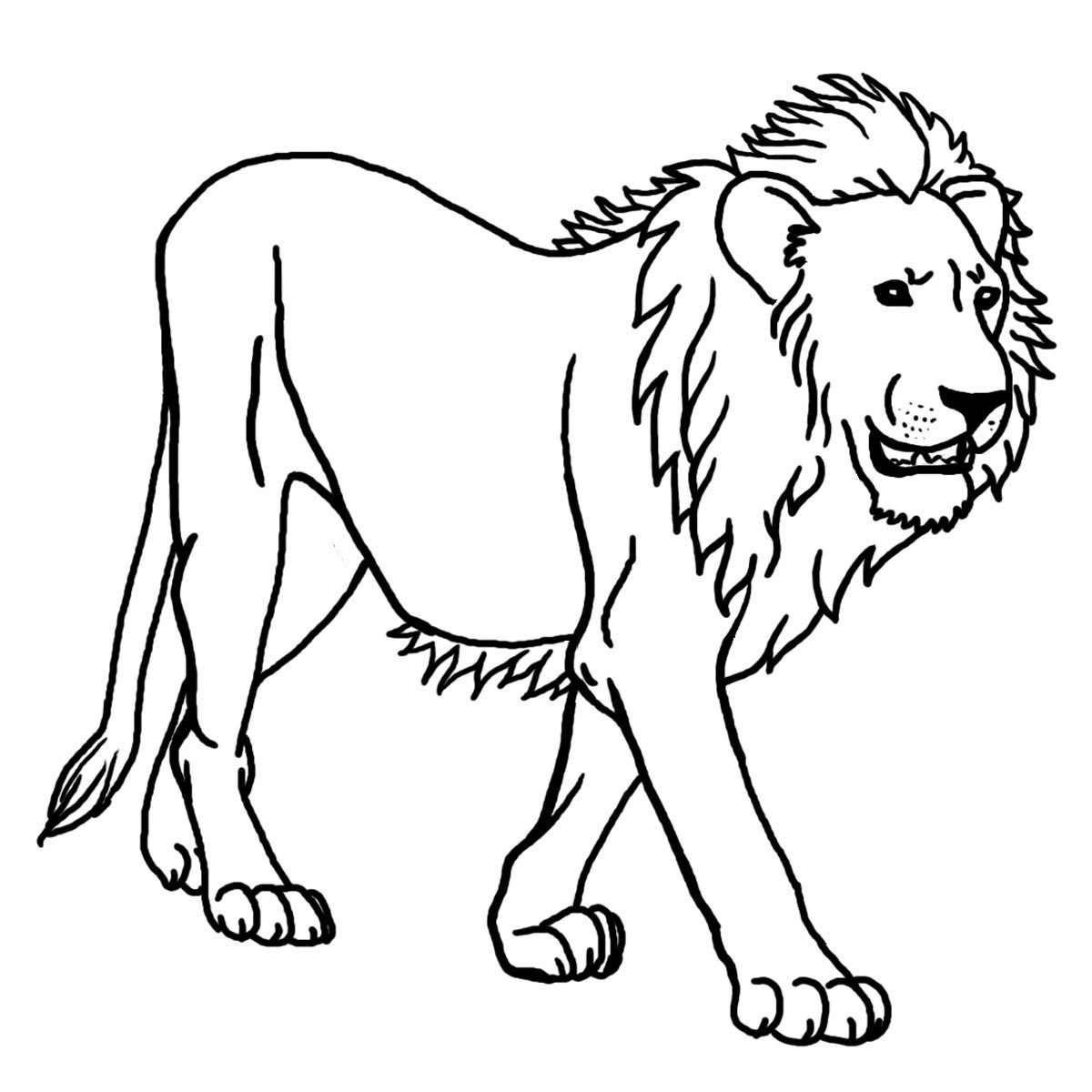 Outline Of A Lion Clip Art Cartoon Animal Faces Lion B&w