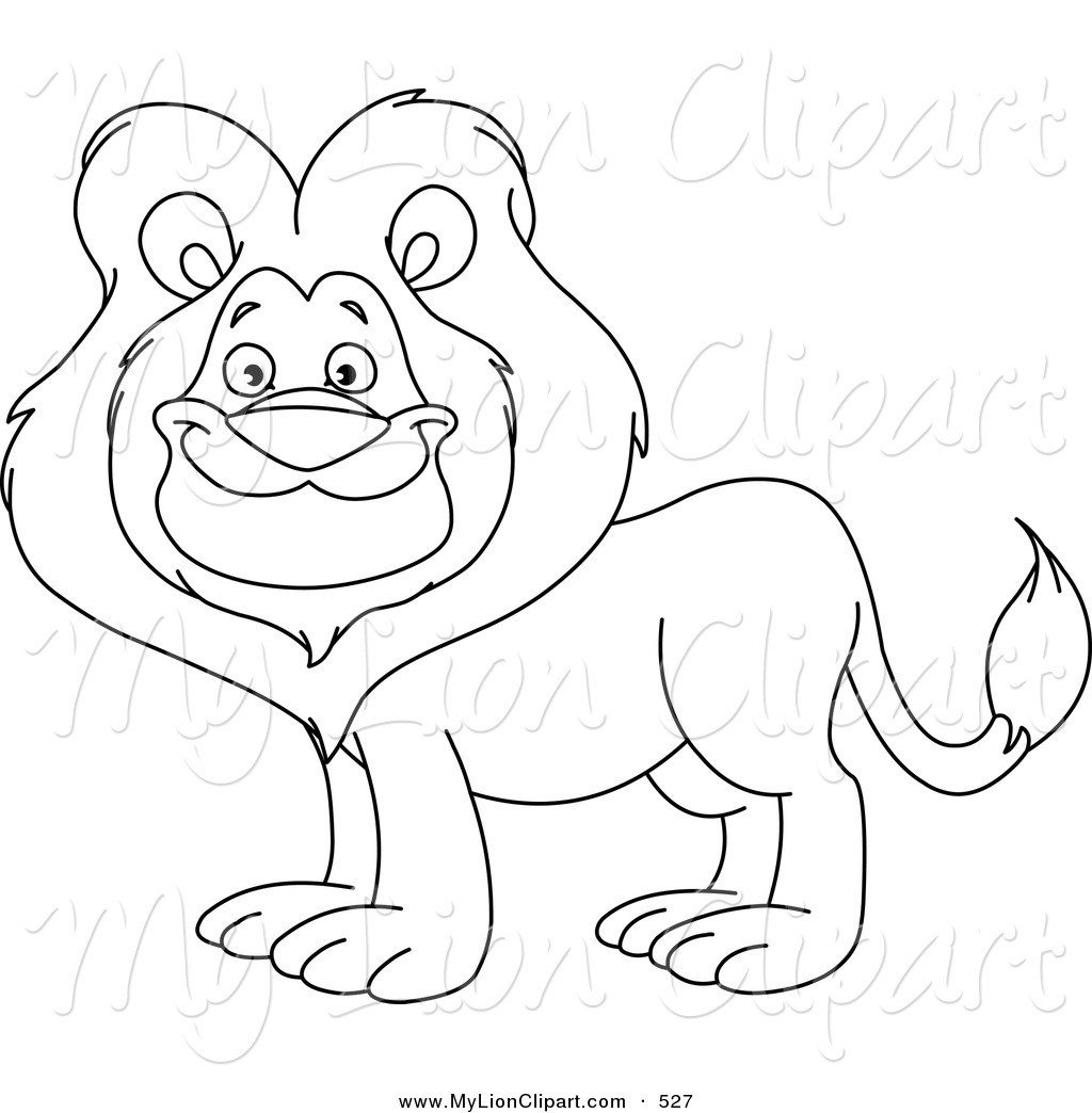 Outline Of A Lion Lion Outline Clipart Clipart Suggest