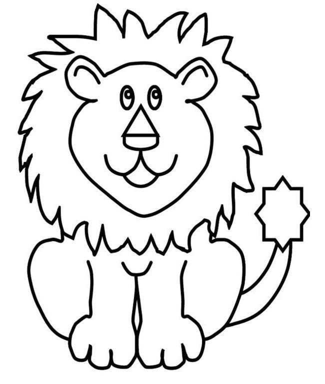 Outline Of A Lion Lion Outline Drawing at Getdrawings