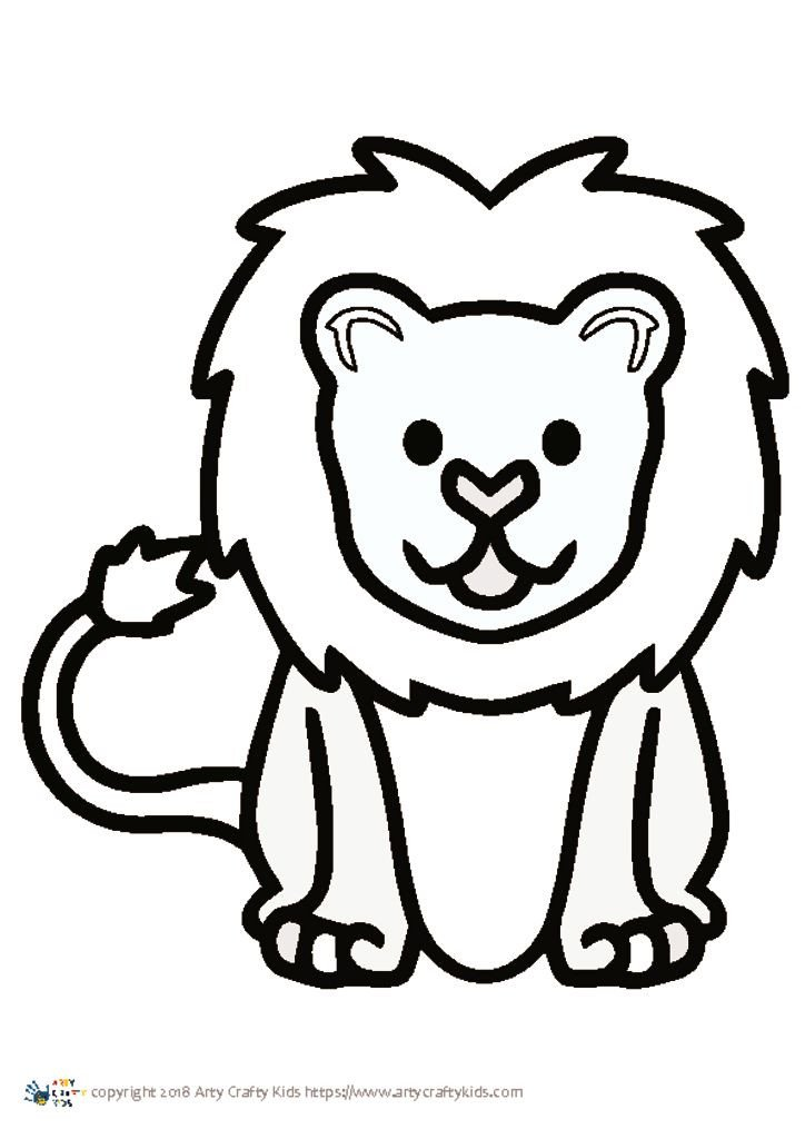 Outline Of A Lion Lion Outline
