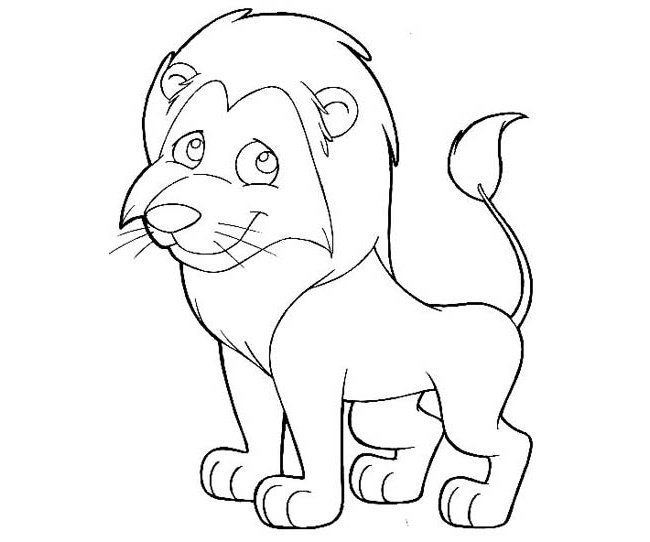 Outline Of A Lion Lion Template Animal Templates
