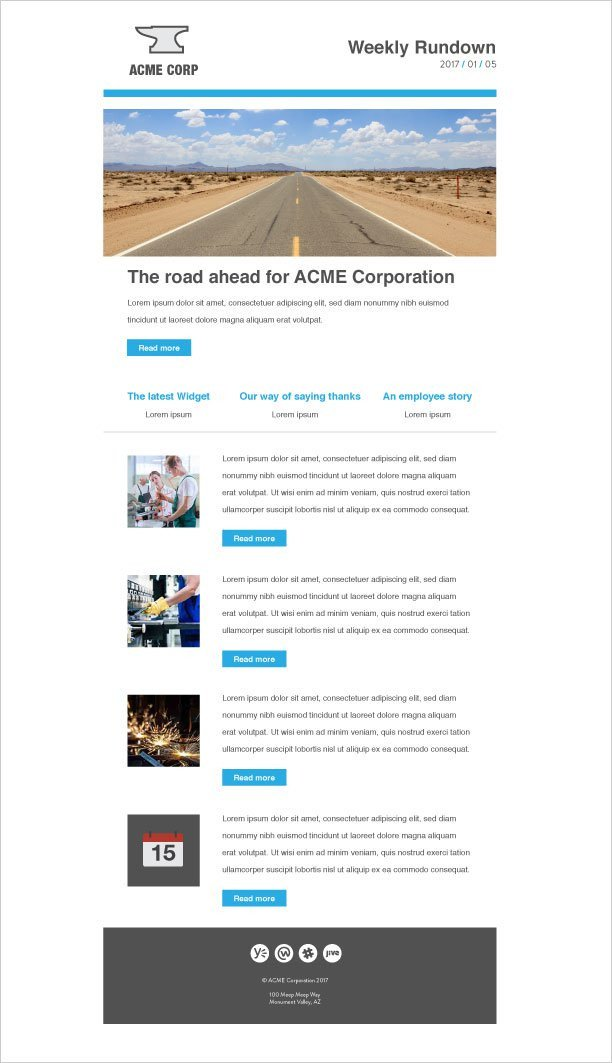 Outlook Email Newsletter Template 5 Really Good Internal Email Templates that Work In Outlook