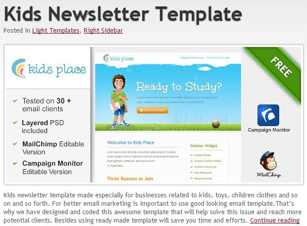 Outlook Email Newsletter Template 600 Free Email Templates