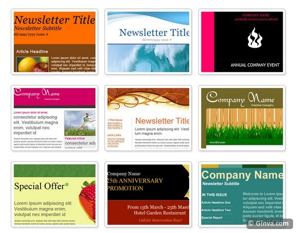 Outlook Email Newsletter Template Best S Of 2012 Microsoft Publisher Newsletter