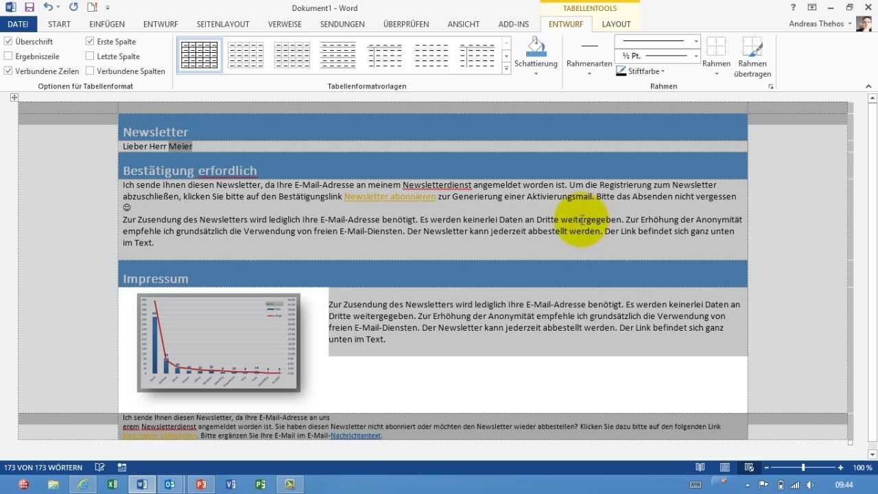 Outlook Email Newsletter Template Outlook Individuellen Newsletter Im HTML format Als