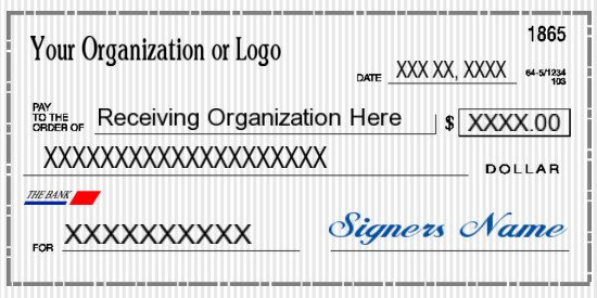 Oversized Check Template Free Big Checks for Presentations