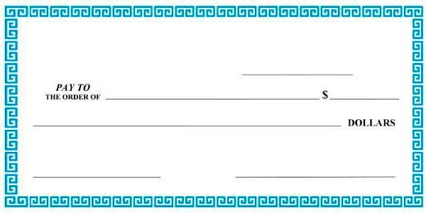 Oversized Check Template Free Big Checks Presentation Checks