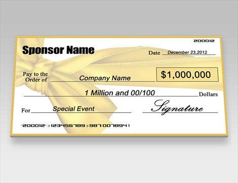 Oversized Check Template Free Donation Checks Charity Checks – Signazon