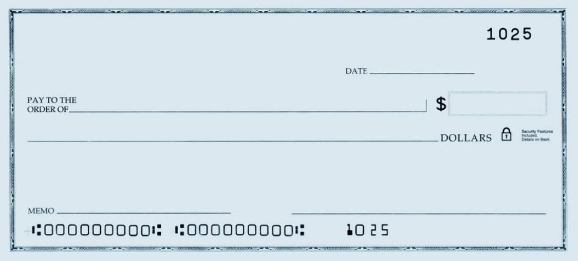 Oversized Check Template Free Printable Personal Blank Check Template