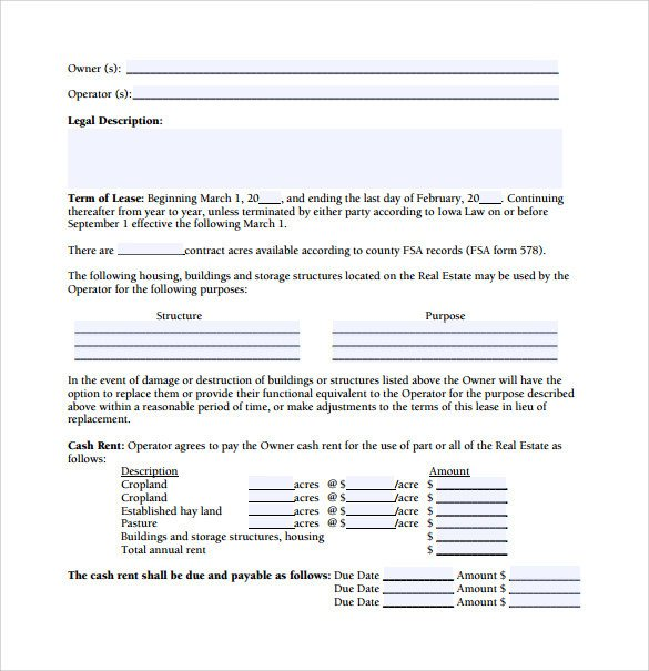 Owner Operator Contract Template 11 Owner Operator Lease Agreements Word Pdf