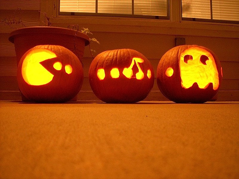 Pac Man Pumpkin Stencil Dumeegamer Halloween 2014