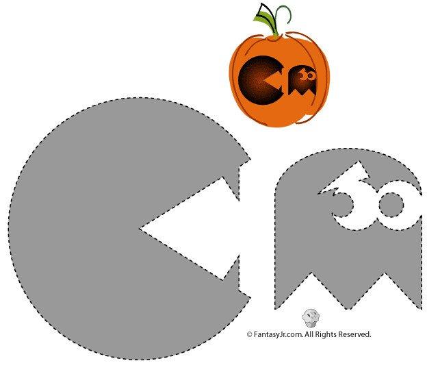 Pac Man Pumpkin Stencil Free Pumpkin Carving Templates