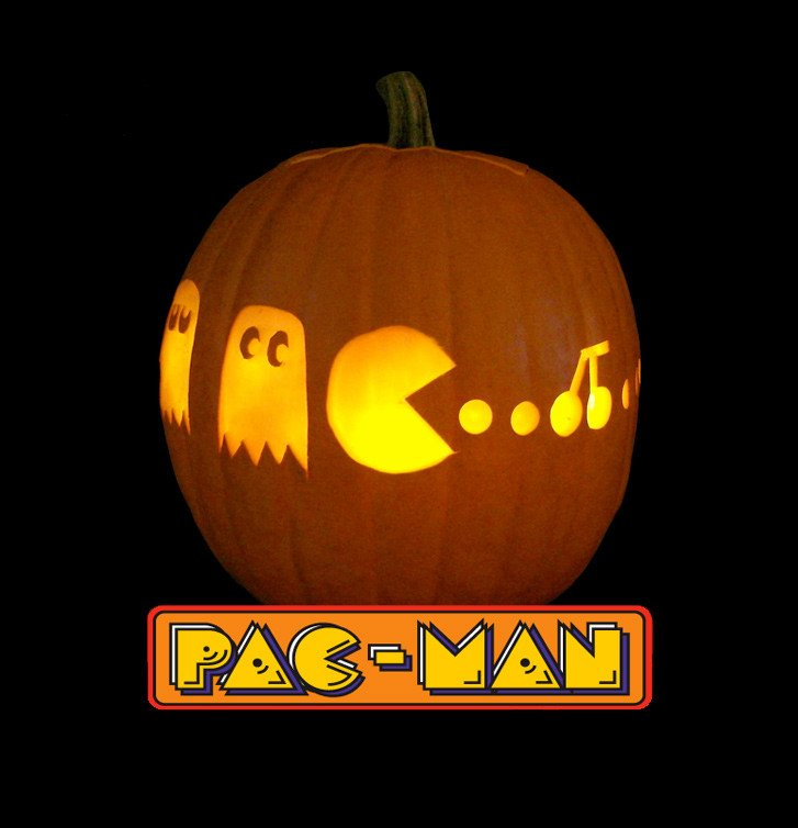 Pac Man Pumpkin Stencil Games