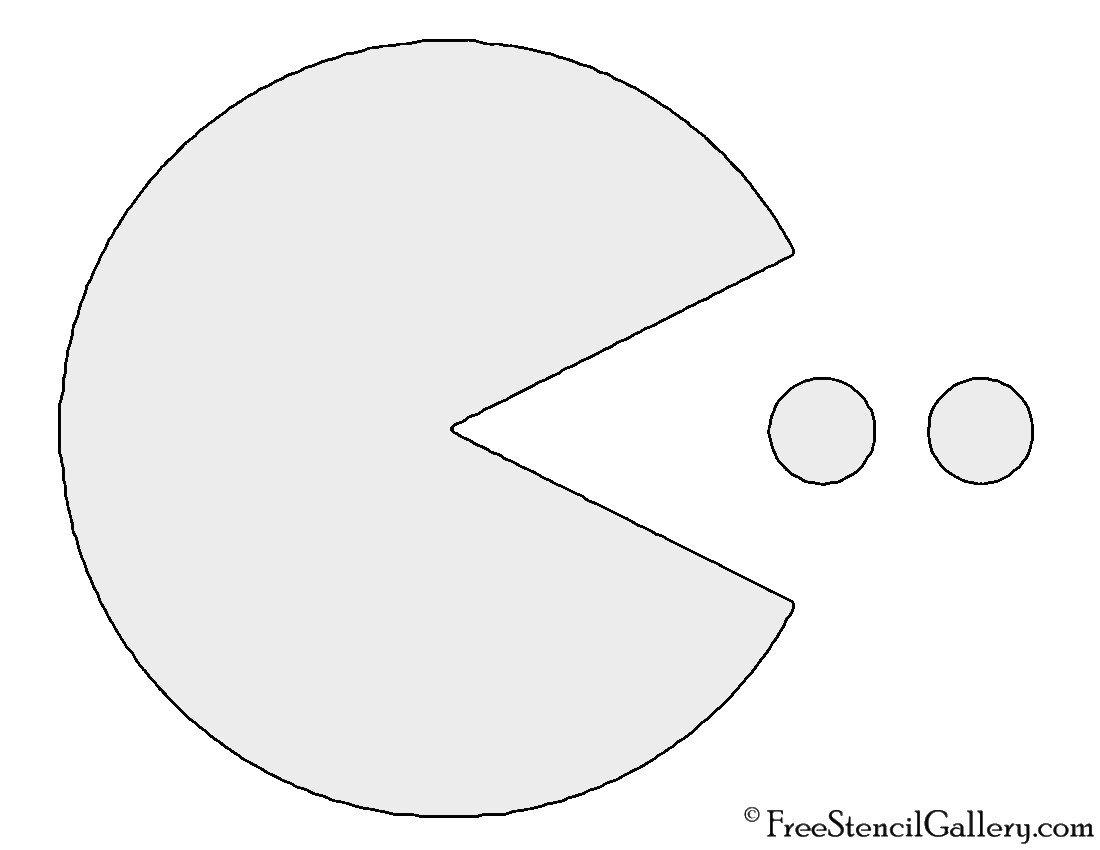 Pac Man Pumpkin Stencil Pac Man Stencil