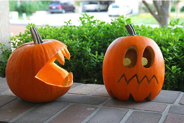 Pac Man Pumpkin Stencil Pumpkins