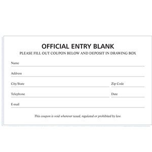 Pageant Entry form Template Blank Entry forms