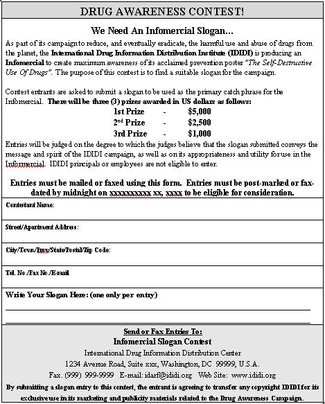 Pageant Entry form Template Contest Entry form Sample Contest Entry form Template