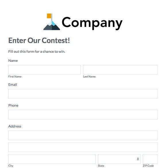 Pageant Entry form Template eventbrite Alternative Simple event Management