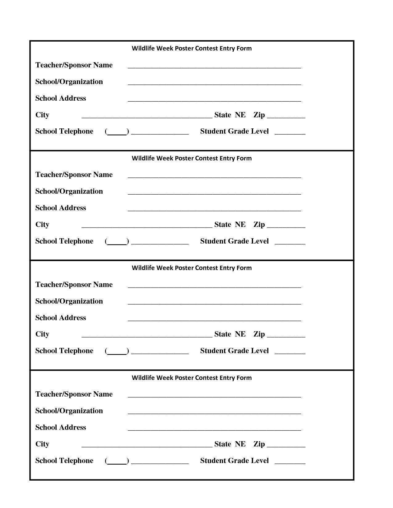 Pageant Entry form Template Raffle Entry form Template