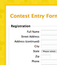 Pageant Entry form Template Web form Templates for Your organization