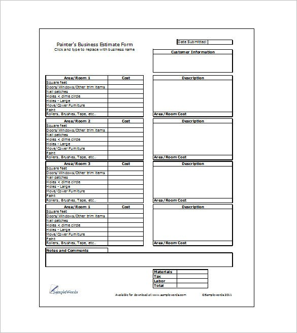 Painting Estimate Template Excel 10 Plantillas Para Elaborar Presupuestos Descarga Gratis