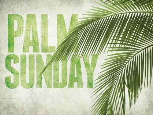 Palm Sunday Powerpoint Template Free Church Powerpoint Template Palm Fronds Sermoncentral