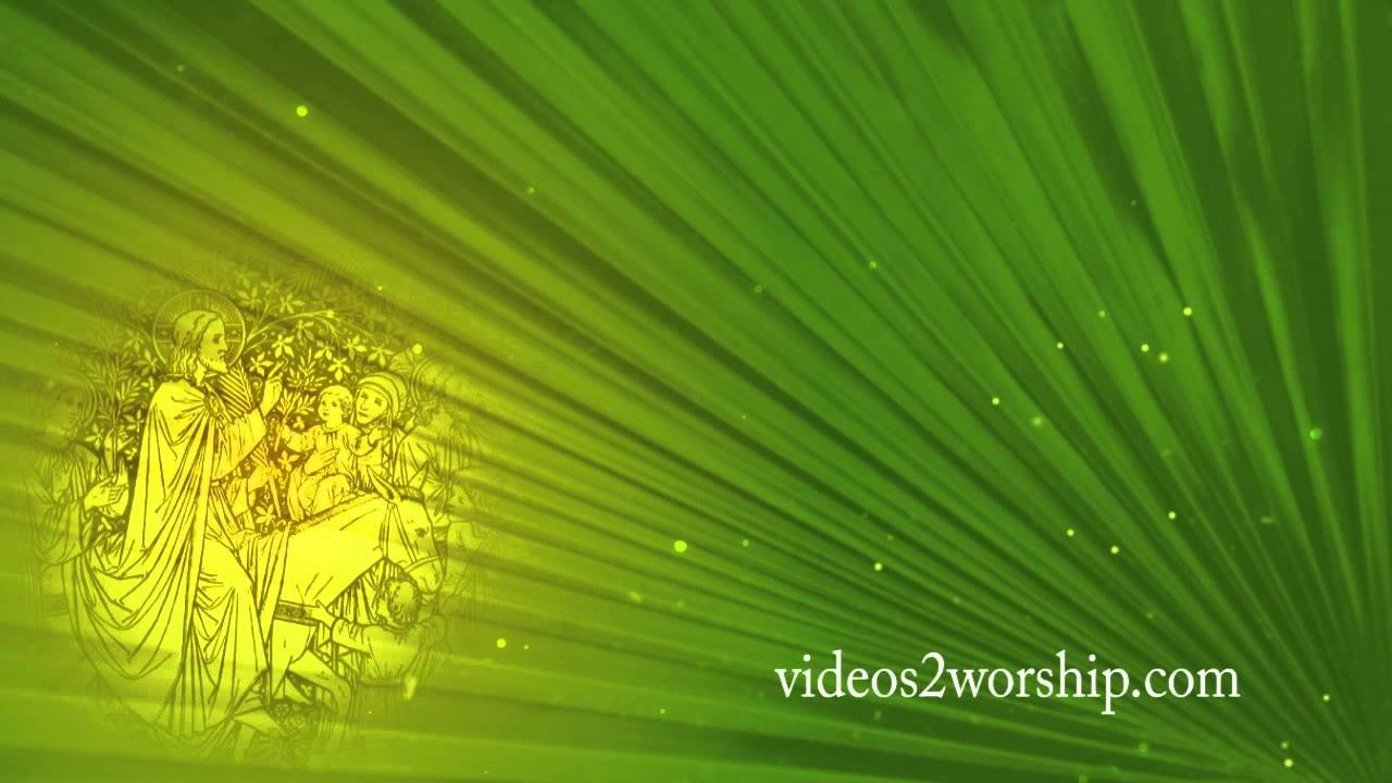 Palm Sunday Powerpoint Template Free Free Palm Sunday Worship Background Videos2worship