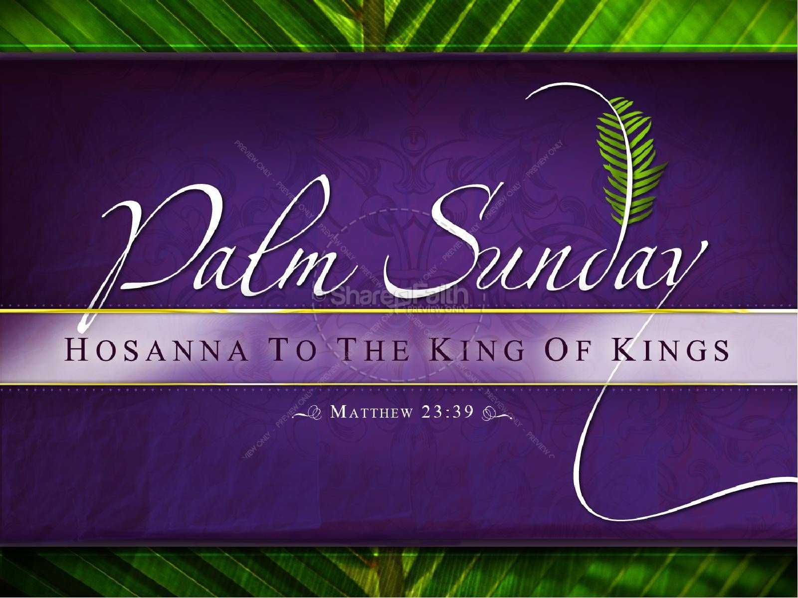 Palm Sunday Powerpoint Template Free Palm Sunday Powerpoint Template