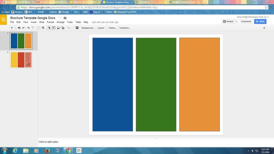 Pamphlet Template Google Docs Google Slides Brochure Template 2018