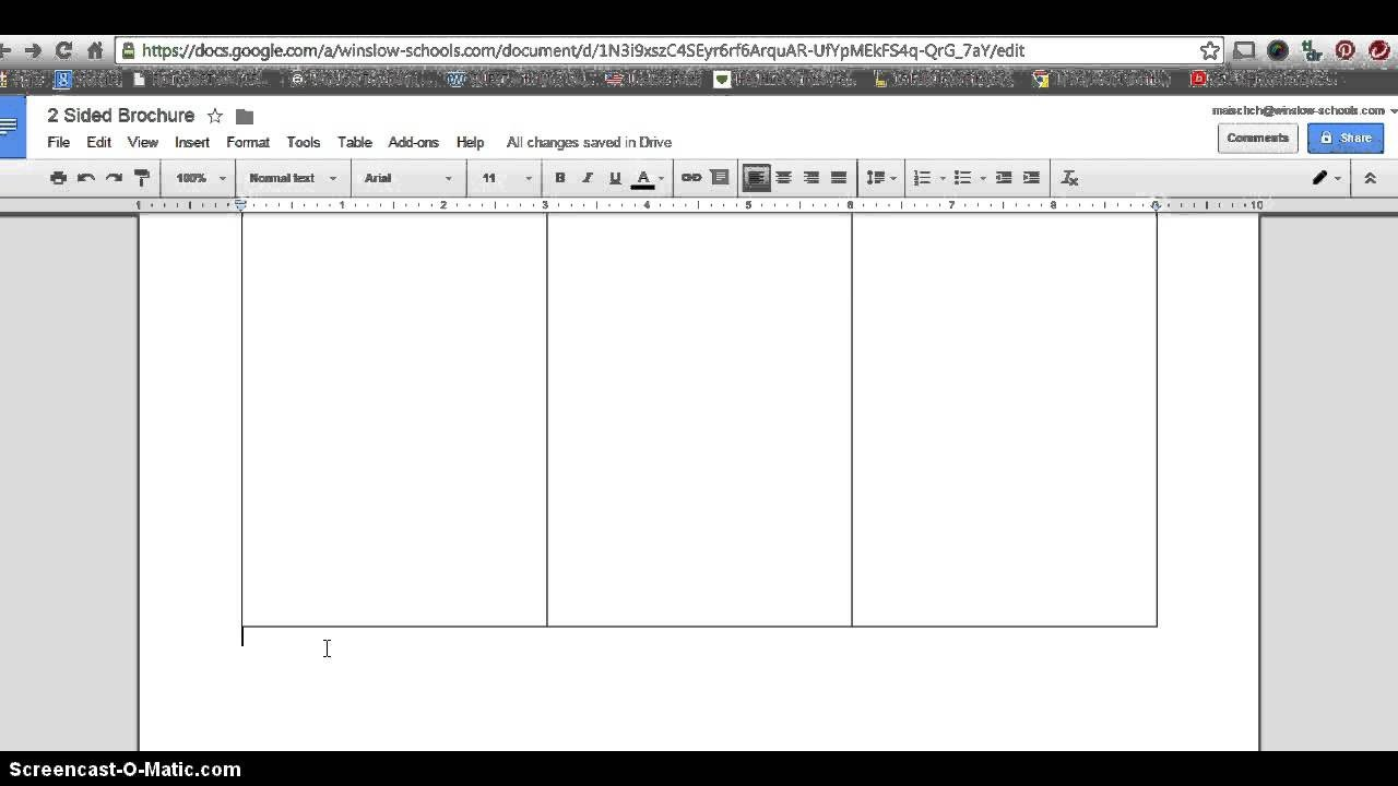 Pamphlet Template Google Docs How to Make 2 Sided Brochure with Google Docs