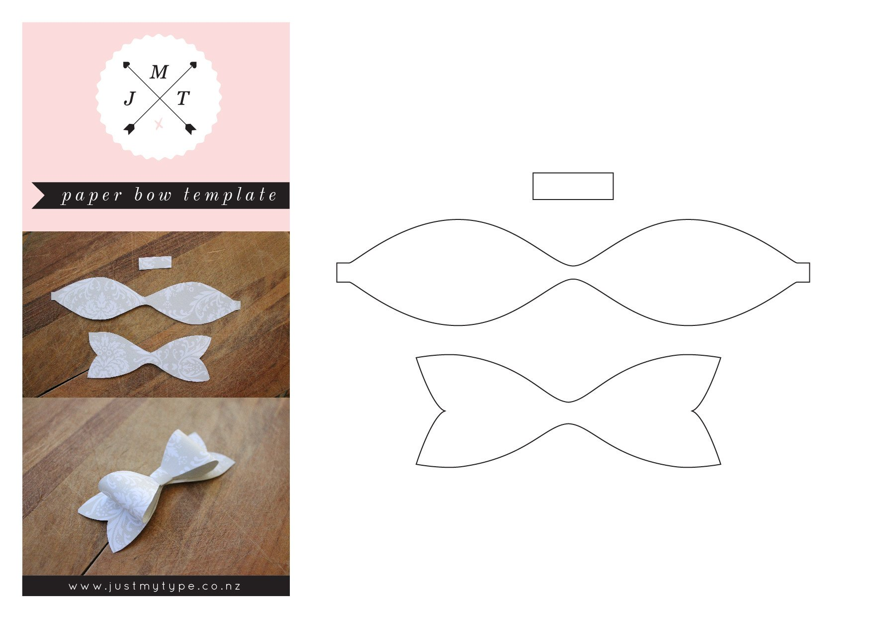 Paper Bow Tie Template 12 Best S Of Paper Bow Tie Template Bow Tie Pattern