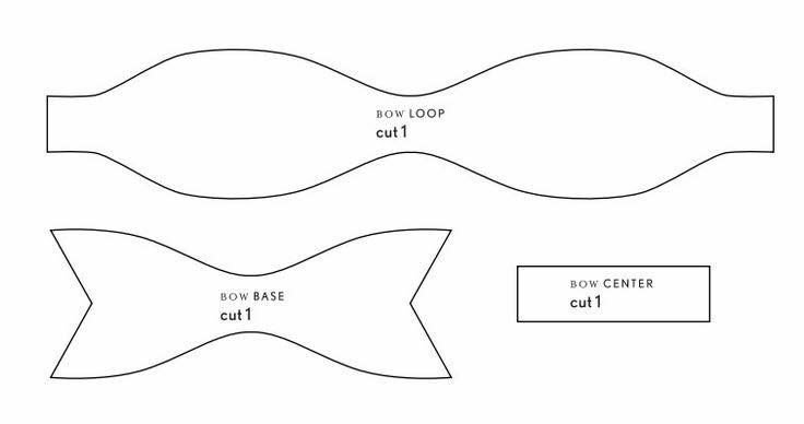 Paper Bow Tie Template Foam Bow Template Race Costume Ideas