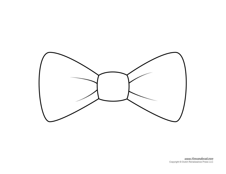 Paper Bow Tie Template Tim Van De Vall Ics & Printables for Kids